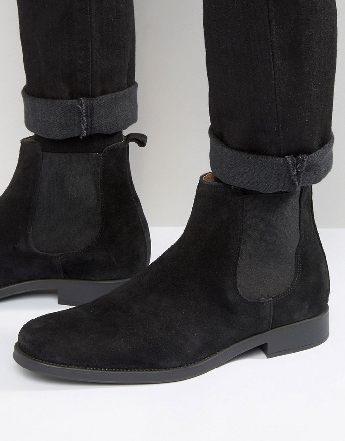 ... Selected Homme Oliver Suede Chelsea Boots ...