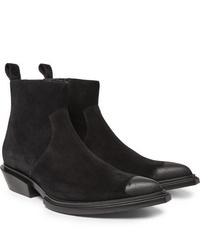 Balenciaga Santiag Suede Boots