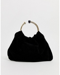 Forever New Rouched Clutch Bag In Black