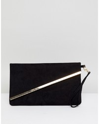 Miss KG Suedette Fold Over Clutch Bag