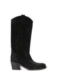 Via Roma 15 Almond Toe Cowboy Boots