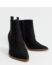 ASOS DESIGN Wide Fit Elliot Western Boots