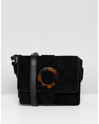 New Look Tortoise Shell Cross Body Bag In Black