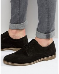 Derby shoes in black suede medium 836642
