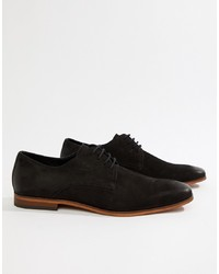 Pier One Lace Up Shoes In Black Nubuck