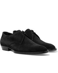 Saint Laurent Wyatt Suede Derby Shoes