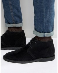 Desert boots in black faux suede medium 798195