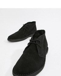 ASOS DESIGN Desert Boots In Black Suede