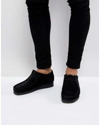 Clarks Originals Wallabee Suede Shoes In Black