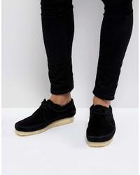 Clarks Originals Weaver Suede Shoes In Black