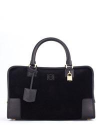 Loewe Amazona Suede Leather Bag Black