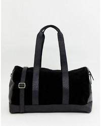 Urbancode Holdall Bag In Leather And Suede Mix