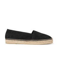 Saint Laurent Logo Embroidered Suede Espadrilles
