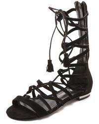 Schutz Billa Suede Gladiator Sandals