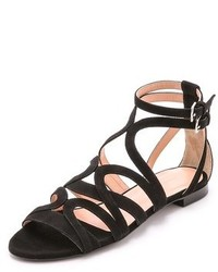 Jill Stuart Farah Suede Flat Sandals