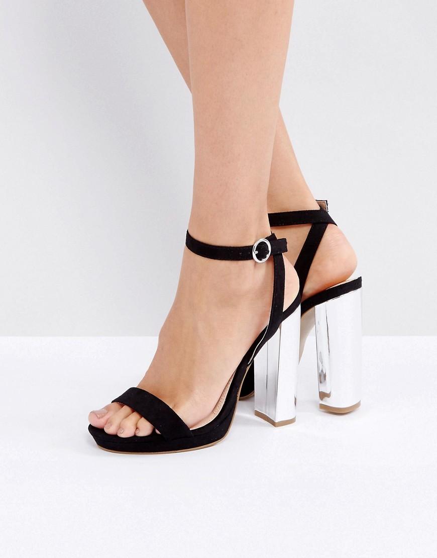 Coco Wren Platform Heel Sandal Micro