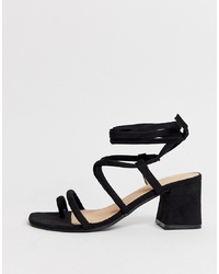Pimkie Py Mid Sandals In Black