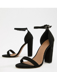 ASOS DESIGN Wide Fit Highball Barely There Heeled Sandals