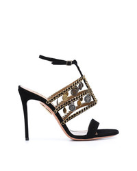 Aquazzura X Naty Abascal Chain Trim Sandals