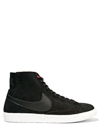 Blazer mid suede and shearling high top sneakers black medium 835176