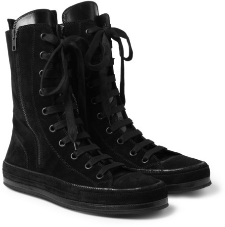 ... Ann Demeulemeester Suede High Top Sneakers ...
