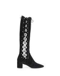 Saint Laurent Lace Up Side Boots