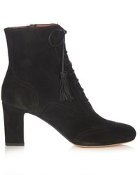 Tabitha Simmons Afton Lace Up Suede Ankle Boots