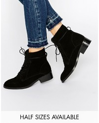 Asos Collection Aliza Suede Lace Up Ankle Boots