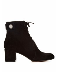 Gianvito Rossi Finlay Lace Up Suede Ankle Boots