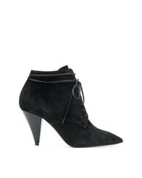 Saint Laurent Lace Up Ankle Boots