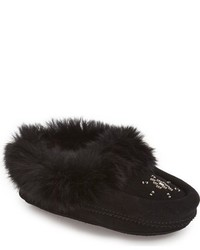 Manitobah Mukluks Genuine Rabbit Fur Moccasin