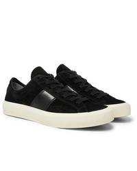 Tom Ford Cambridge Leather Trimmed Suede Sneakers