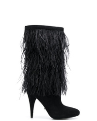 MICHAEL Michael Kors Michl Michl Kors Asha Ostrich Feather Embroidered Boots