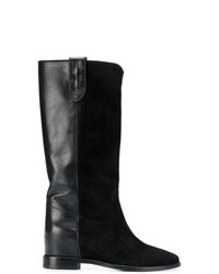 Twin-Set Suede Panel Boots