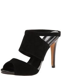 Black Suede Mules