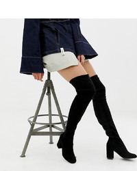 Asos Tall Asos Design Tall Kadi Heeled Thigh High Boots