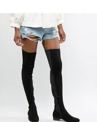 Asos Tall Asos Design Tall Kelby Flat Elastic Thigh High Boots