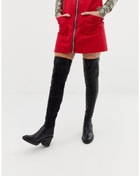 ASOS DESIGN Kai Chunky Stretch Thigh High Boots