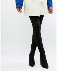 ASOS DESIGN Kera Pointed Thigh High Boots