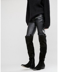 Asos Kimari Suede Western Over The Knee Boots