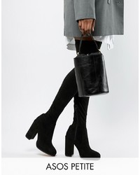 ASOS DESIGN Petite Kassidy Heeled Thigh High Boots
