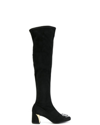 Fabi Plaque Detail Knee High Boots
