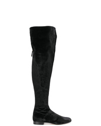 Alberta Ferretti Velvet Over The Knee Boots