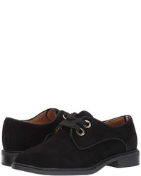 Black Suede Oxford Shoes