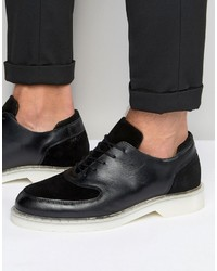 Zign Shoes Zign Leather Suede Mix Oxford Shoes