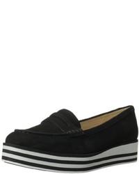 Black Suede Platform Loafers