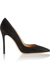Gianvito Rossi 105 Suede Pumps Black