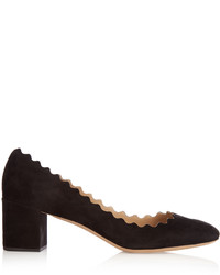 Chloé Chlo Lauren Scallop Edged Suede Pumps