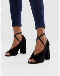ASOS DESIGN Peyton Premium Leather High Heels