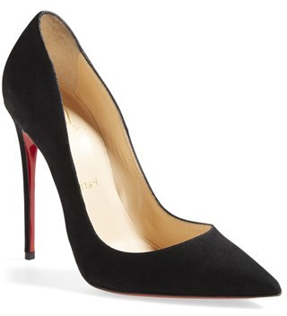 5a95666013f £555, Christian Louboutin So Kate Pointy Toe Suede Pump